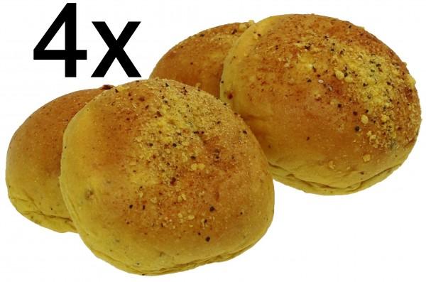 Curry Burger Buns, 4er Pack