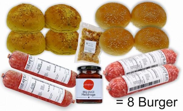 """Paket """"Hackbomben Burger"""" (8 Burger)"""