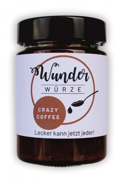Wunderwürze, Crazy Coffee, 165g Glas
