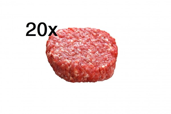 Wagyu Ochse Burger Patties Mini, 6 Wochen Dry Aged, 20er Pack