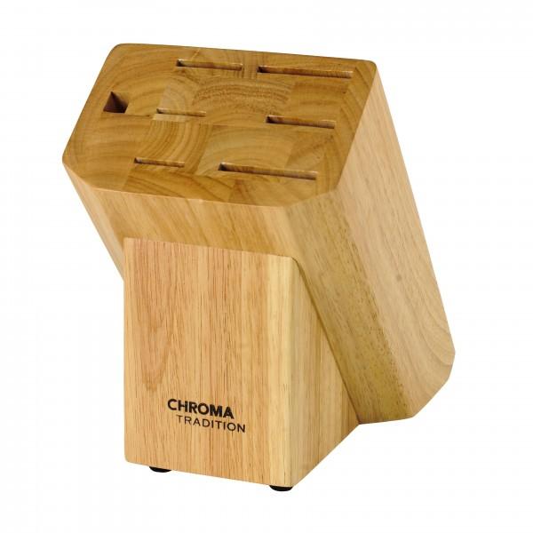 CHROMA TRADITION Messerblock für 6 Messer und 1 Wetzstahl