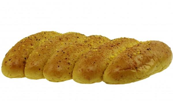 Curry Hot Dog Buns, 5er Pack