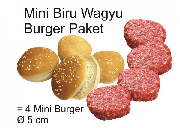 "Paket ""Mini Biru Wagyu Burger"" (4 Mini Burger)"