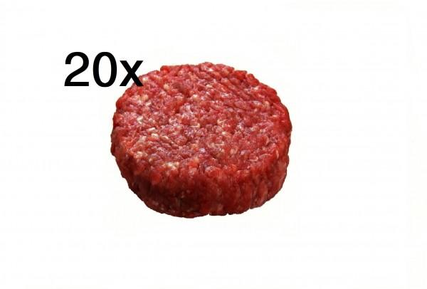 Wildschwein Mini Burger Patties, 20er Pack