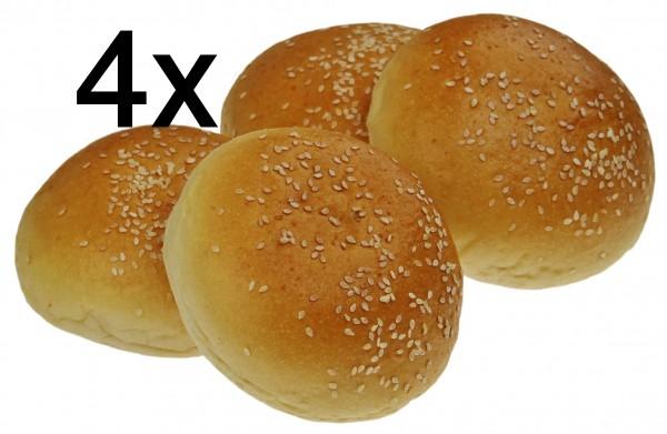 Sesam Burger Buns, 4er Pack