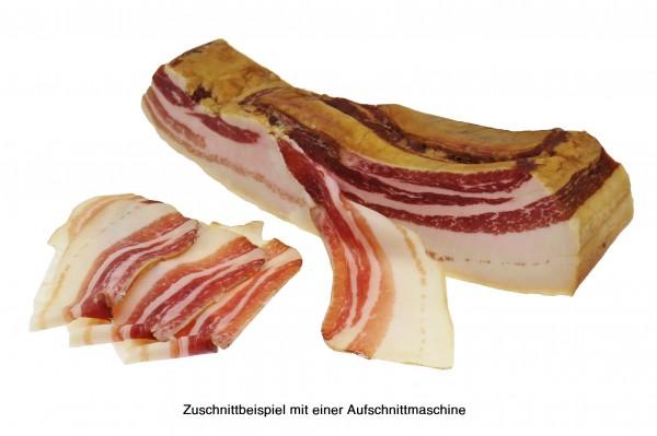 Eichelschwein Buchenrauch Bacon, 12 Monate luftgetrocknet