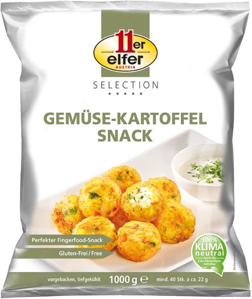 11er GmbH, Rösti Gemüse-Kartoffel Snack, 22g/Stück, 1000g Beutel